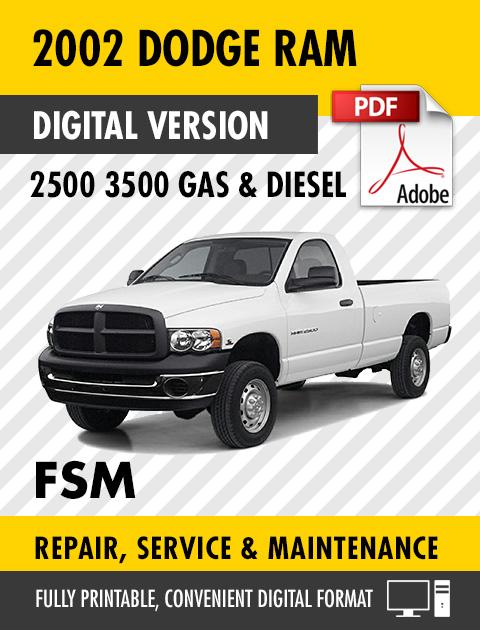 2002 Dodge Ram 2500 3500 Trucks Gas Diesel Factory Repair