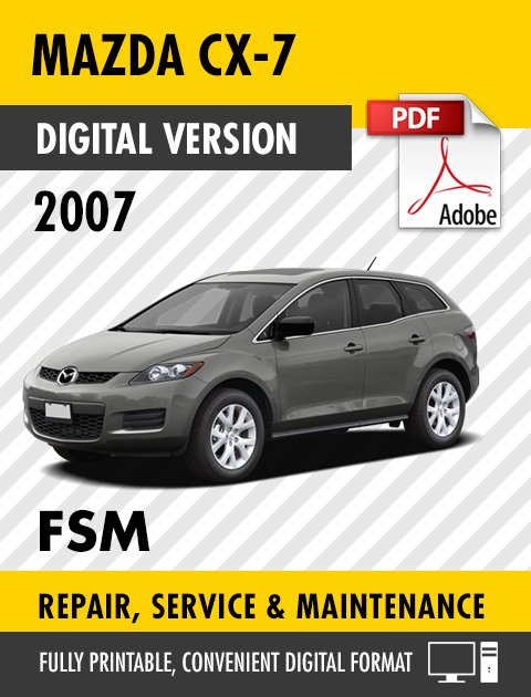 2007 Mazda Cx 7 Factory Service Repair Manual Craig S