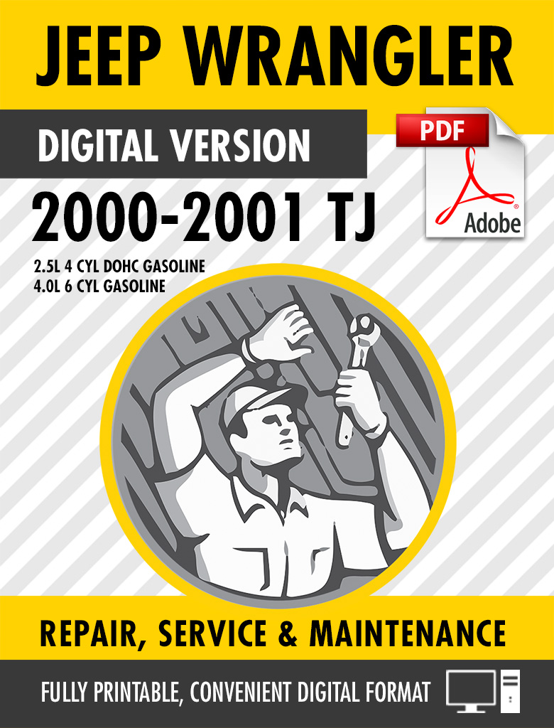 2000 2001 jeep wrangler tj factory repair service manual