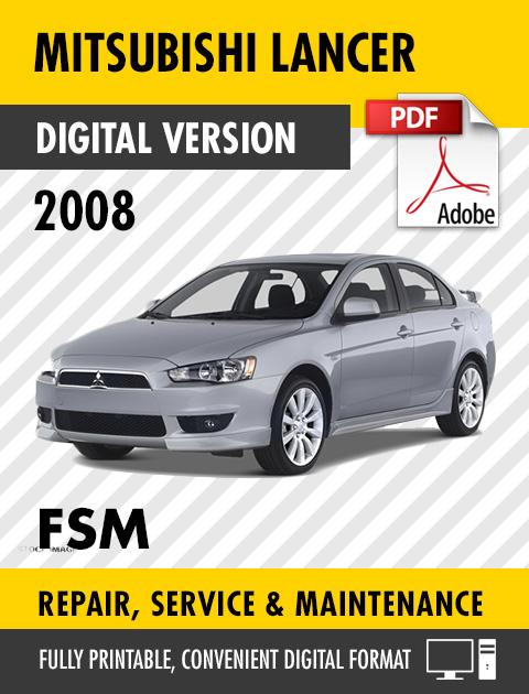 2008 Mitsubishi Lancer Factory Repair Service Manual Craig S Manuals