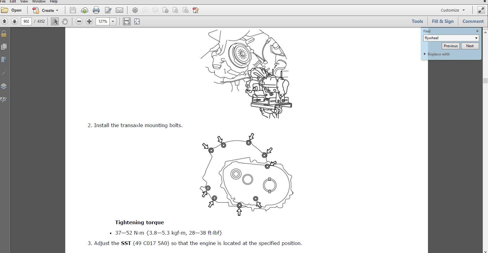 Mazda 3 Service Manual: Drive Plate RemovalInstallation FS5 A EL