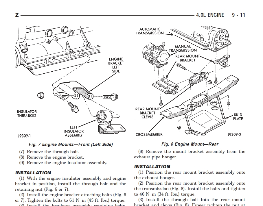 1996 jeep cherokee factory service manual