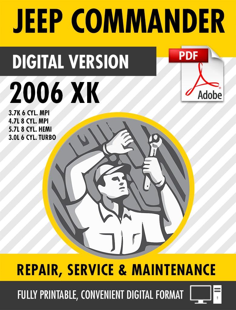 2006-2010 Jeep Commander XK Factory Repair Service Manual